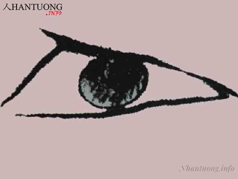 Hình dáng mắt tam giác
